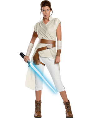 Costume Rey Star Wars Episodio 9 premium per donna