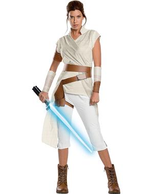 Rey Star Wars Episod 9 premium maskeraddräkt för henne