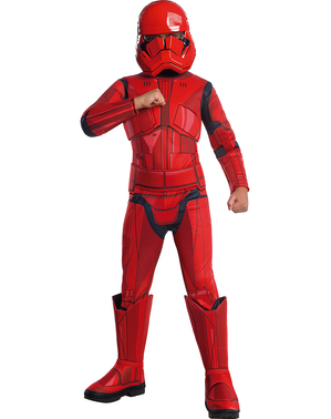 Fato de Sith Trooper Star Wars Episódio 9 premium para menino