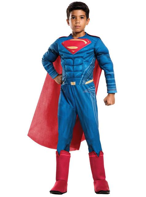 Superman Kostüm gepolstert für Jungen