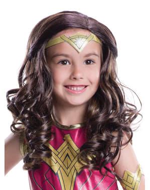 Peluca de Wonder Woman Batman vs Superman para niña