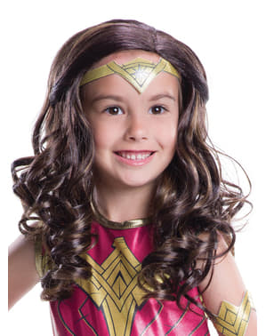 Peruca de Wonder Woman Batman vs Superman para menina