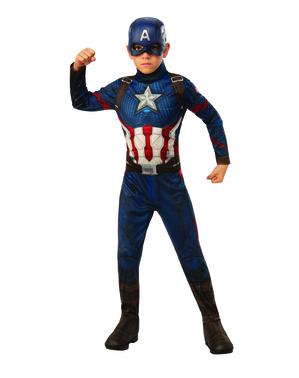 Fato de Capitão América para menino - Os Vingadores
