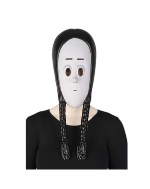 Máscara de Wednesday Friday A Família Addams para menina