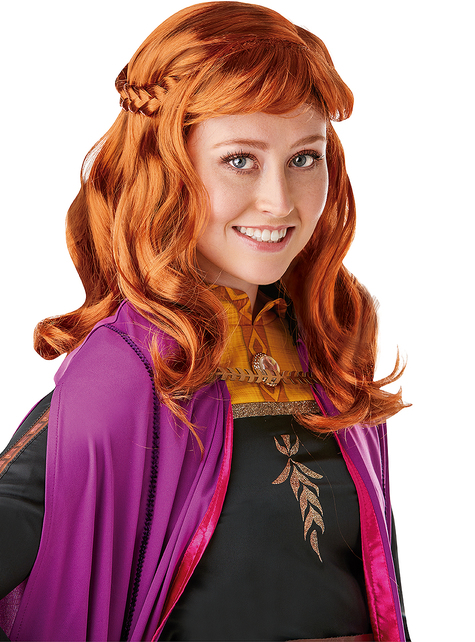 Peluca de Anna Frozen 2 para mujer