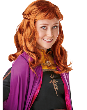 Peruca de Anna Frozen para mulher - Frozen 2