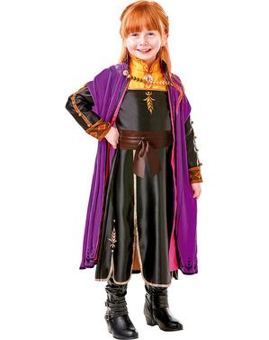 Costum Printesa Anna Premium pentru fată – Regatul de gheață 2 (Frozen)