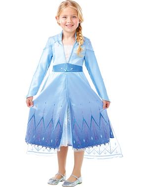 Ельза Заморожений Преміум костюм для дівчаток - Заморожені 2