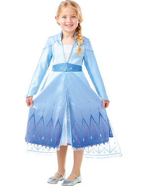 Fato de Elsa Frozen Premium para menina - Frozen 2
