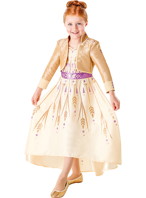 Anna Frozen Classic costume in maroon for girls - Frozen 2