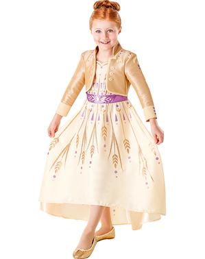 Anna Frost kostyme i gull til jenter - Frost 2
