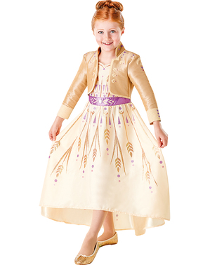 Anna Frozen costume in golden for girls - Frozen 2