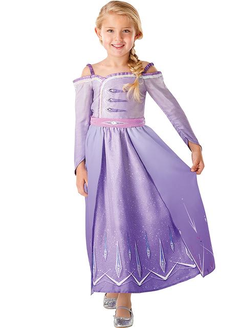 Elsa Frozen costume in purple for girls - Frozen 2