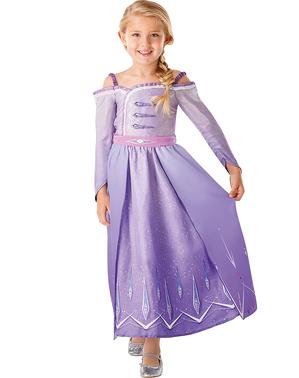 Kostým pro dívky Elsa klasický v fialové barvě - Ledové království 2