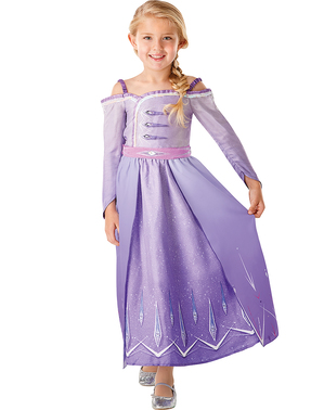 女の子のための紫色のエルサ・冷凍衣装 - 冷凍2