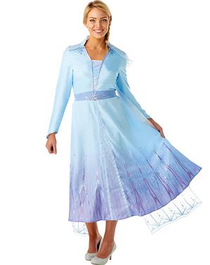 Costum Printesa Elsa pentru femeie – Regatul de gheață 2 (Frozen)