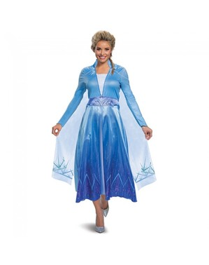 Costume di Elsa Deluxe er donna - Frozen