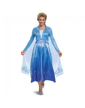 Deluxe Elsa Maskeraddräkt för henne - Frost