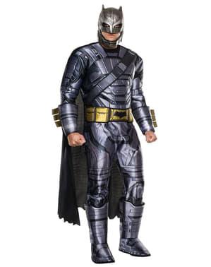 Fato de Batman armadura deluxe Batman vs Superman para adulto