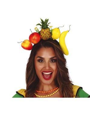 Diadema de frutas tropicales