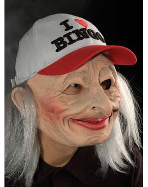 Máscara de abuela del bingo de látex