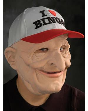 Lateksowa maska Staruszek Gracz Bingo