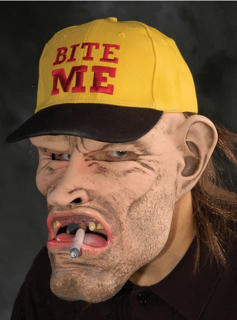 歯のない喫煙者ラテックスマスク