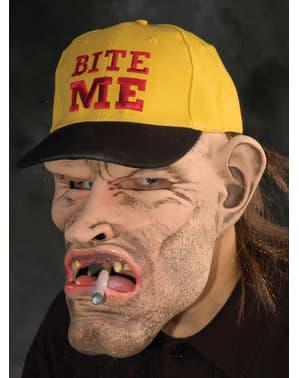 Máscara de fumador sem dentes em látex