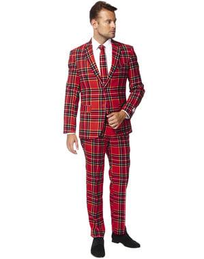 Costum barbați imprimeu scoțian