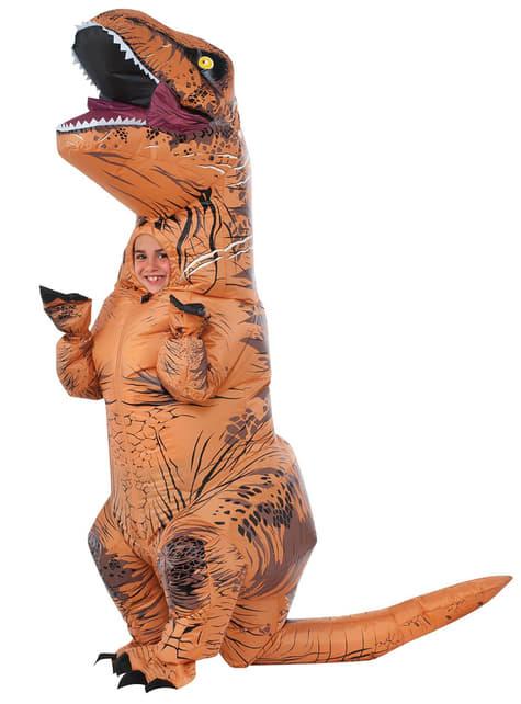 Fato de T-Rex insuflável Jurassic World para menino