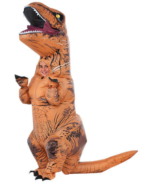 Oppblåsbar T-Rex Dinosaur Kostyme til Barn - Jurassic World