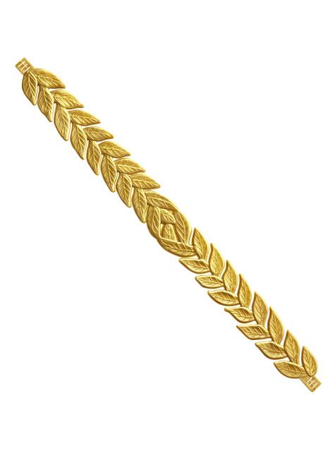 Coroa de loureiro dourada para adulto
