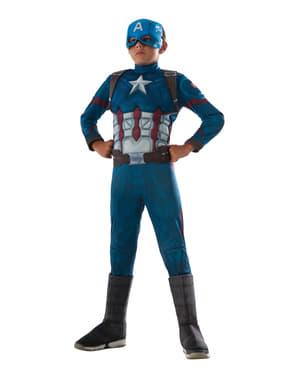 Fato de Capitão América: Guerra Civil deluxe para menino