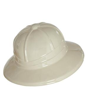 Miesten valkoinen Tutkimusmatkailija-hattu