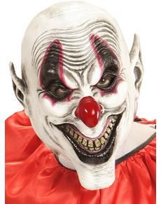 Máscara de payaso siniestro sonriente para adulto