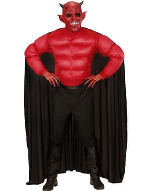 Pánský kostým s vyrýsovanými svaly ďábel