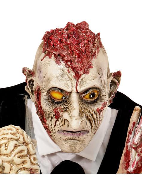 Máscara de zombie con las ideas al aire para adulto
