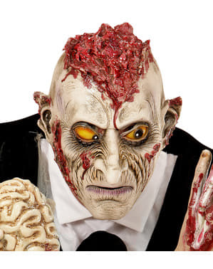 Adult's Zombie Mask with Ideas Spilling Out