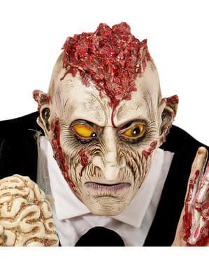 Maska zombie z mózgiem na wierzchu dla dorosłych