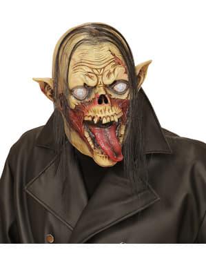Máscara de zombie esquelético