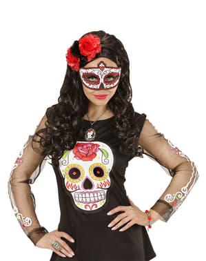 Catrina Augenmaske mit Glitter für Damen