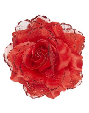 Floare roșie pentru păr