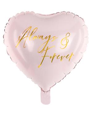 Always & Forever Hart Ballon (45 cm)