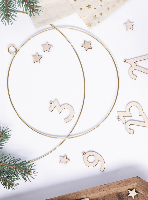 2 aros decorativos de metal dourados - para as tuas festas
