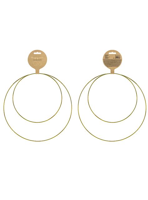 2 anelli decorativi di metallo dorati - economico