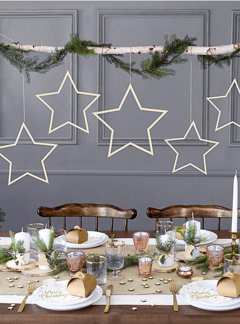 20 glædelig jul træformede servietter (16 x 16,5 cm) - til børn og voksne