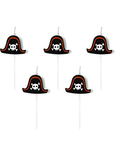 5 velas para festa pirata - Pirates Party