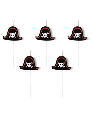 5 velas para fiesta pirata - Pirates Party