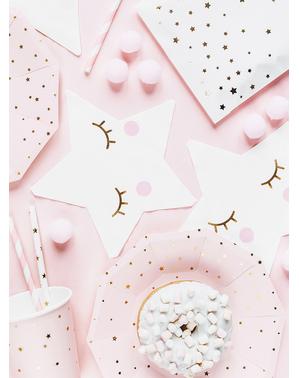 20 guardanapos com forma de estrela - Unicorn Collection