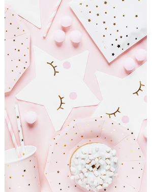 20 star-shaped napkins - Unicorn Collection